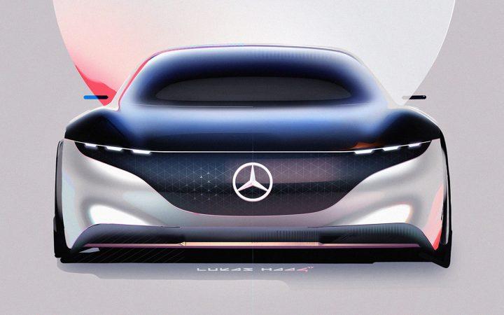 Mercedes-Benz Vision EQS Concept Design Sketch Render