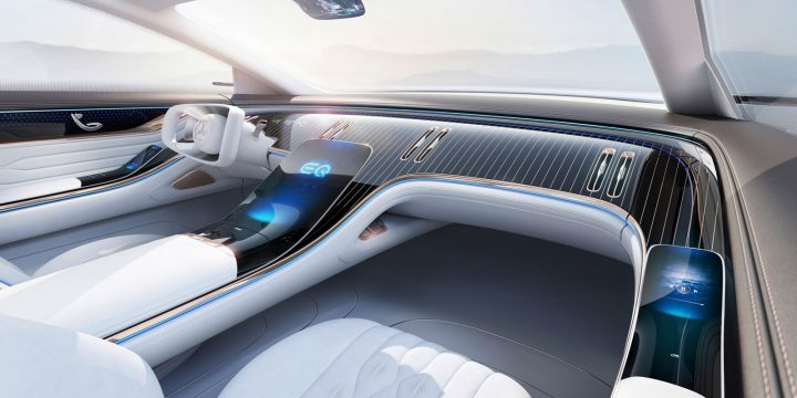 Mercedes-Benz Vision EQS Concept Interior Design