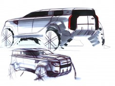 New Land Rover Defender: Design Sketches and Process