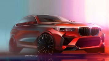 BMW X5M Competition Design Sketch Render