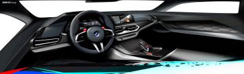 BMW X5M and X6M Competition Interior Design Sketch Render