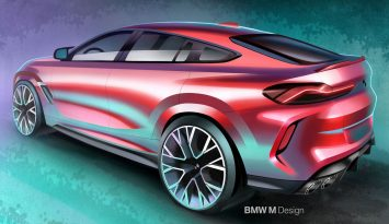 BMW X6M Competition Design Sketch Render