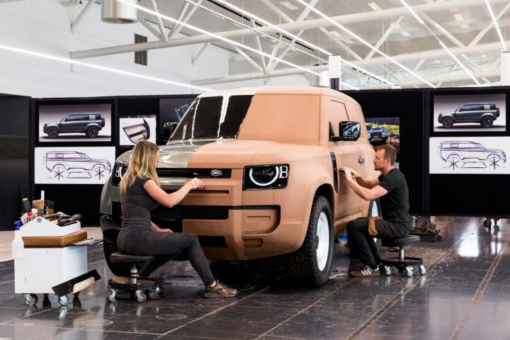 New Land Rover Defender Design Process Clay Modeling