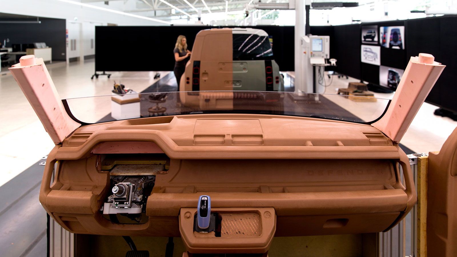 New Land Rover Defender Design Process Interior Clay Model