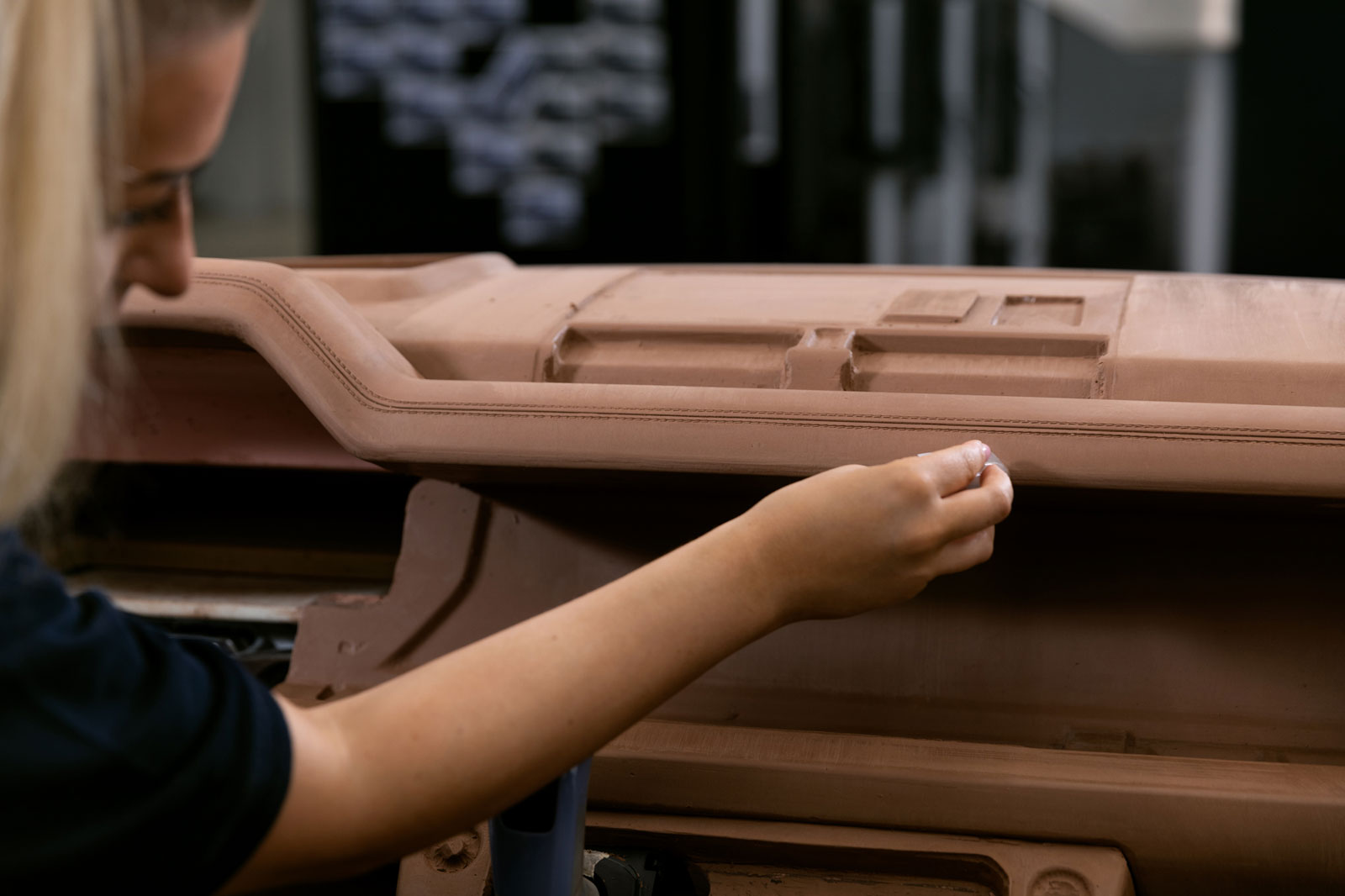 New Land Rover Defender Design Process Interior Clay Modeling