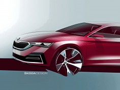 Škoda previews new Octavia with design sketches