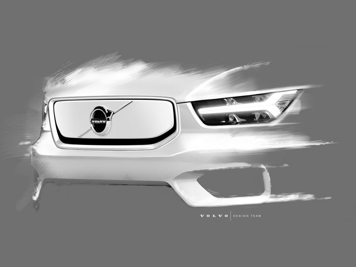Volvo fully electric XC40 Design Sketch