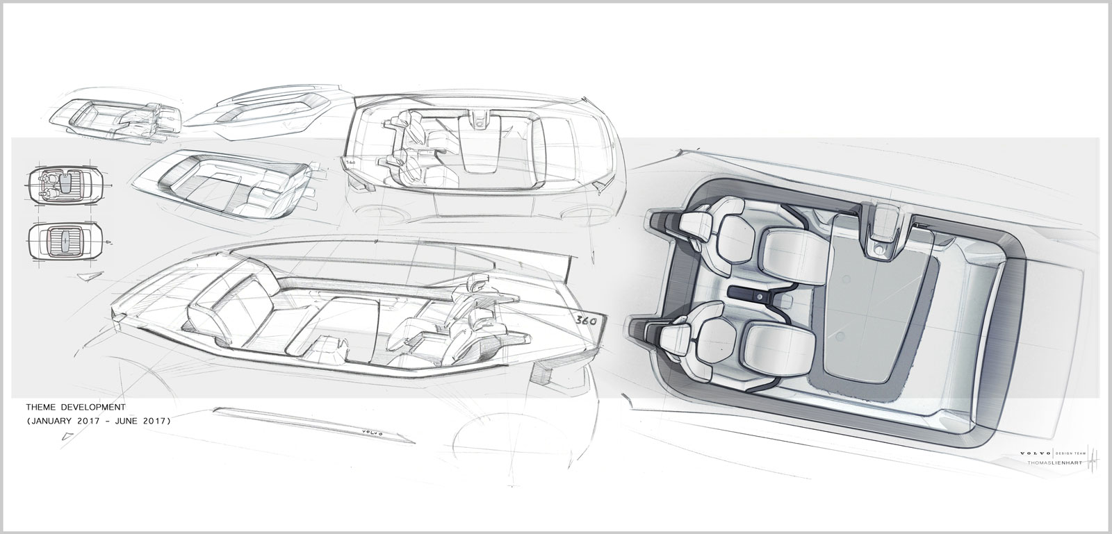 Theme development of the interior for Volvo 360c by Thomas Lienhart