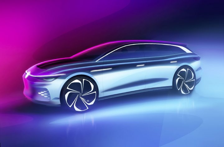 Volkswagen ID. Space Vizzion Concept Design Sketch Render