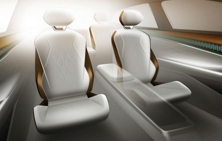 Volkswagen ID. Space Vizzion Concept Interior Design Sketch Render