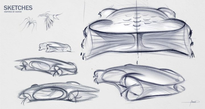Mercedes-Benz Vision AVTR Concept Design Sketches