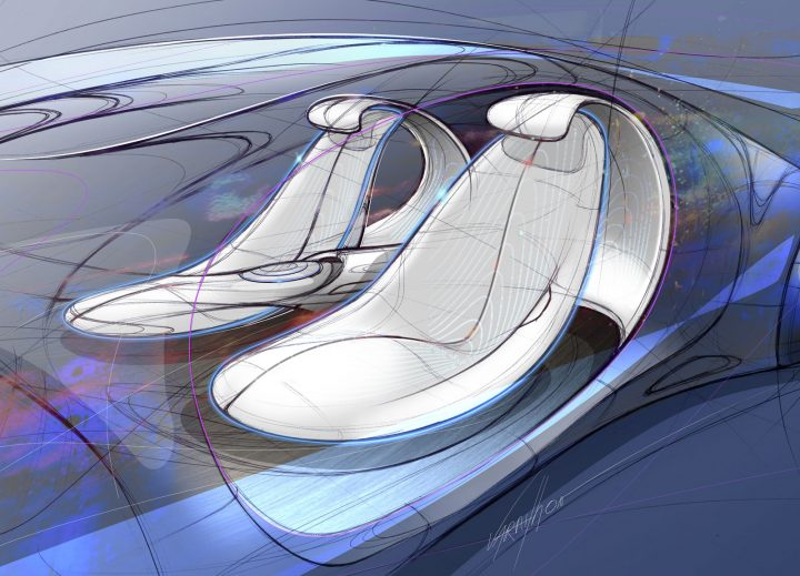 Mercedes-Benz Vision AVTR Concept Interior Design Sketch