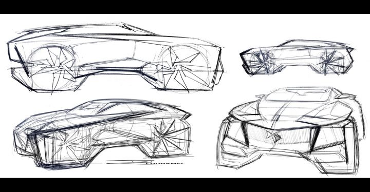 DS Aero Sport Lounge Concept Design Sketches