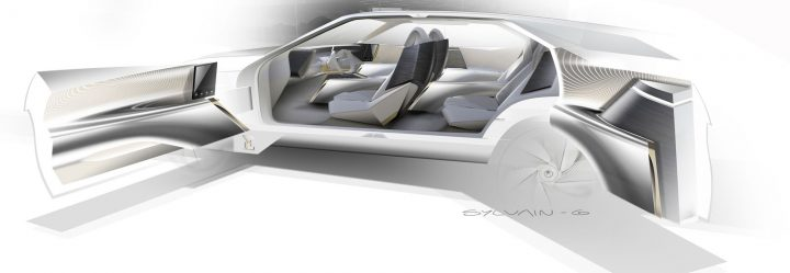 DS Aero Sport Lounge Concept Interior Design Sketch Render