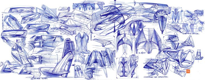 DS Aero Sport Lounge Concept Interior Design Sketches