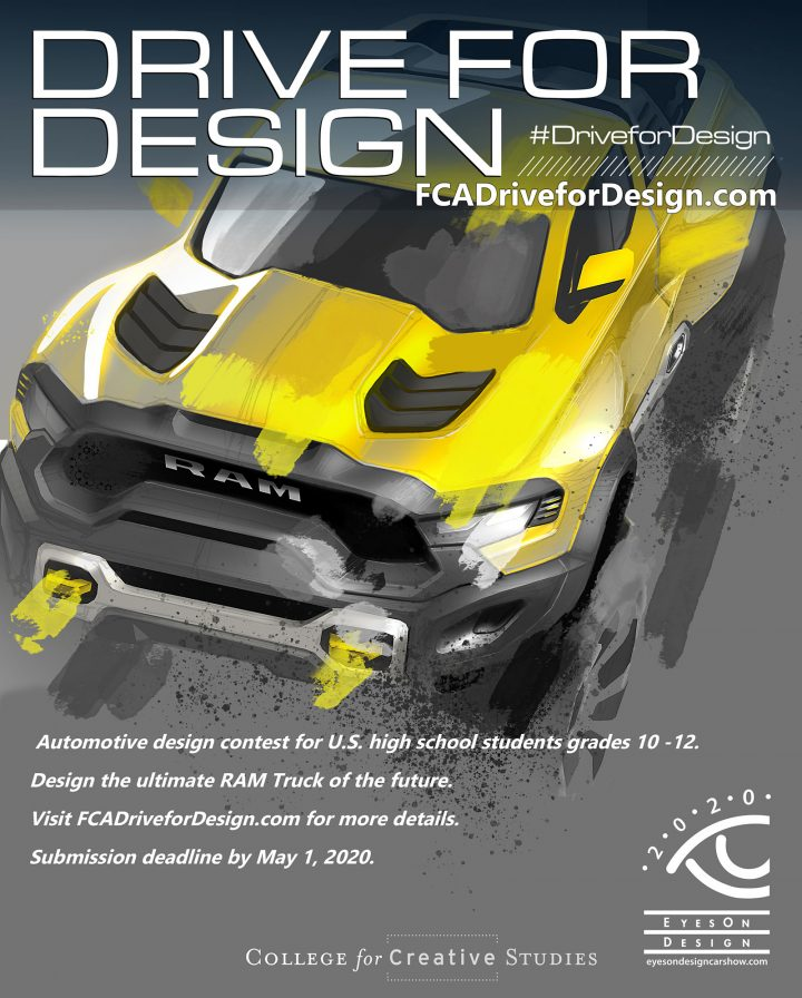 FCA US Drive for Design Contest 2020 Poster