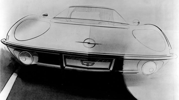 Opel Experimental GT Design Sketch by Erhard Schnell