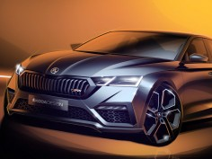 Skoda Octavia vRS iV: preview design sketches