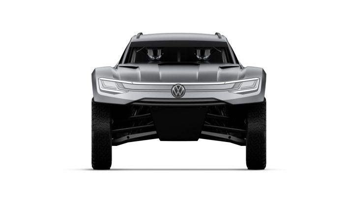 Volkswagen Atlas Cross Sport R race car Front View