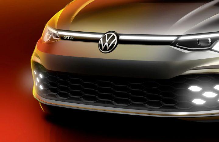 Volkswagen Golf GTD Design Sketch Render