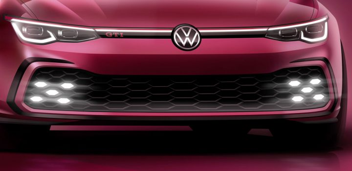 Volkswagen Golf GTI Design Sketch Render