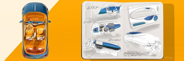 New Fiat 500 Interior Design Sketches by Francesco Morosi