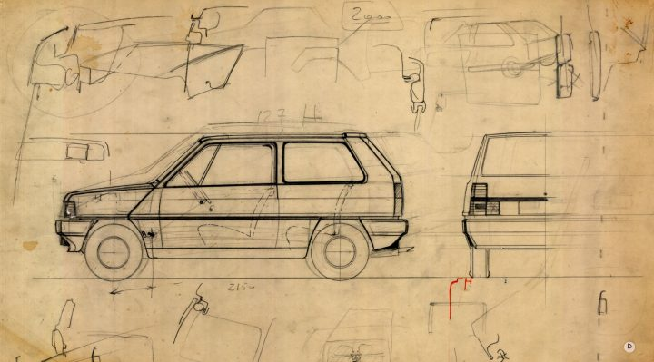 Fiat Panda technical drawings
