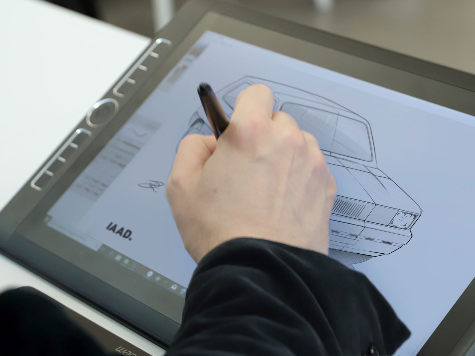 Fiat Panda Design Sketching on Wacom Cintiq at IAAD