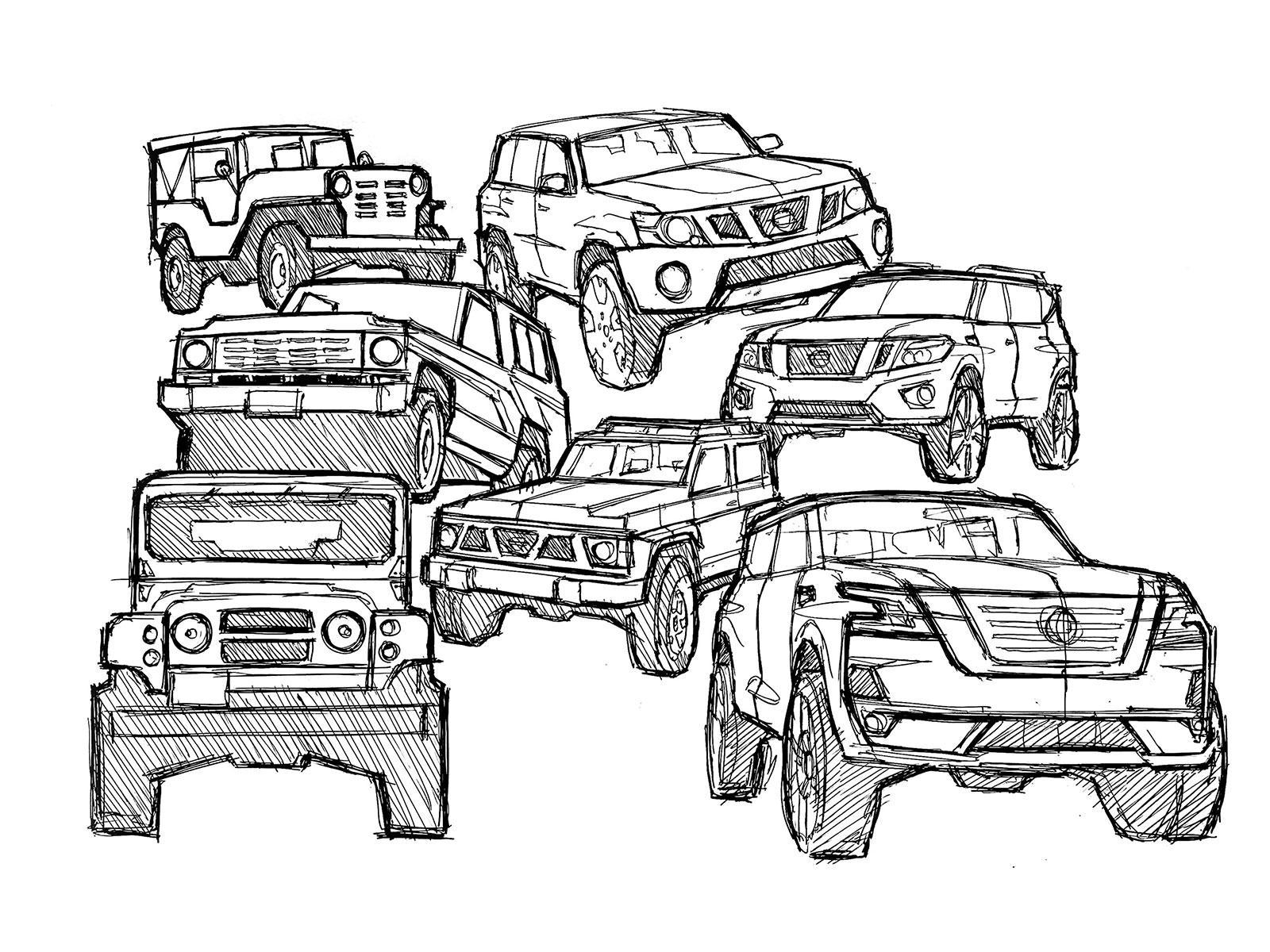 Nissan Patrol Heritage Coloring Design Sketch Car Body Design
