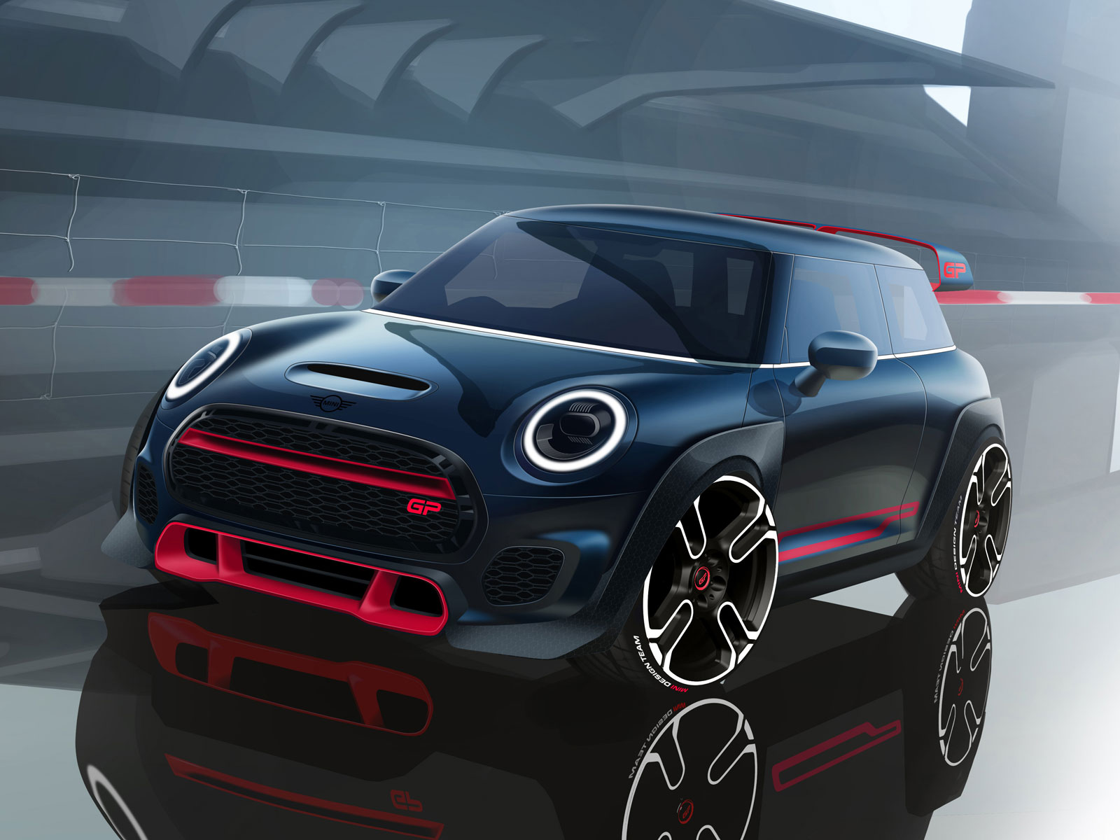 Mini John Cooper Works GP Design Sketch Render