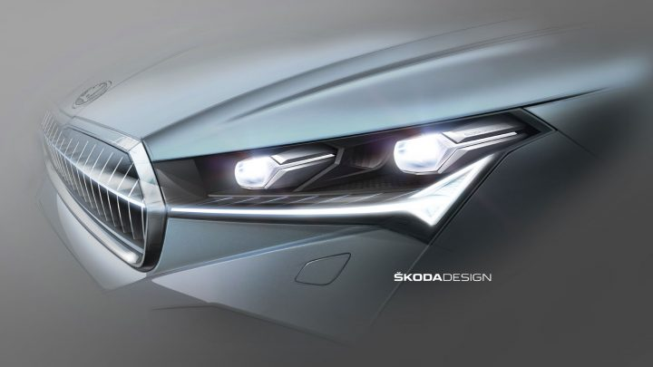 Skoda Enyaq Headlight Design Sketch
