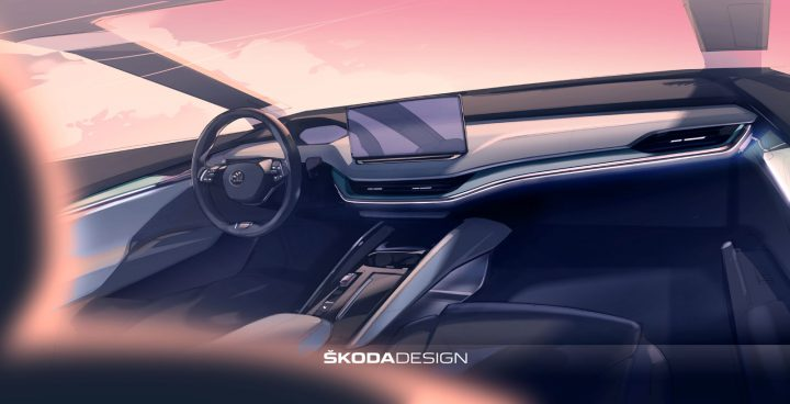 Skoda Enyaq Interior Design Sketch