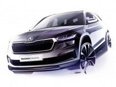 Restyled Škoda Kodiaq: preview design sketches