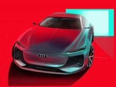 Audi A6 e-tron Concept: Design Sketches